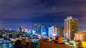 Stadtbild auf schöner Nacht Lizenzfreie Stockbilder