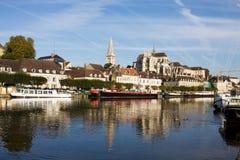 Stadtbild in Auxerre, Frankreich Stockfotografie