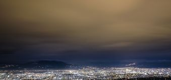 Stadtbild in Bandung stockfotos