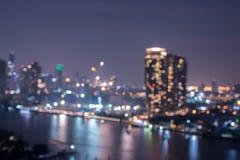 Stadtbild-Bangkok-Unschärfehintergrund Stockfotos