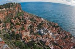 Stadtbild bei Monemvasia, Peloponnes, Griechenland stockfotografie