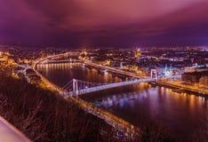 Stadtbild Budapests Ungarn Lizenzfreies Stockbild