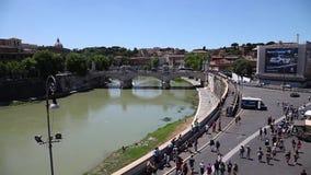 Stadtbild Castel Sants ' Angelo stock video footage