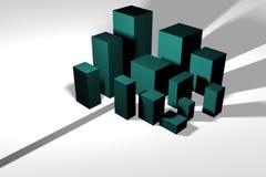 Stadtbild in der abstrakten Form - Kopftext in Richtung zu Targe Stockfotografie