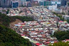 Stadtbild der alten bunten Gebäudestadt in Taipeh, Taiwan Lizenzfreie Stockfotografie