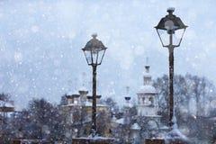 Stadtbild in der alten Stadt Stockfoto