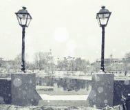 Stadtbild in der alten Stadt Stockfotografie