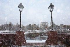 Stadtbild in der alten Stadt Stockbild