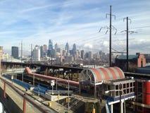 Stadtbild der Bahnstation in Philadelphia Stockfoto