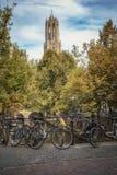 Stadtbild in der Herbsteinstellung Lizenzfreie Stockfotografie