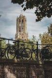 Stadtbild in der Herbsteinstellung Stockfoto