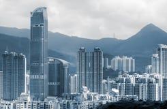 Stadtbild der hohen Wohnungen und der Häuser Stockbilder