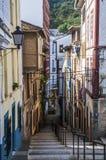 Stadtbild der Kleinstadt in Spanien Lizenzfreie Stockbilder