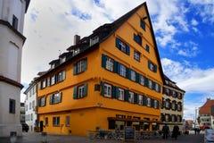 Stadtbild der Stadt von Fussen Schwarzwald Deutschland stockfotografie