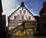 Stadtbild der Stadt von Lindau Schwarzwald Deutschland lizenzfreie stockbilder