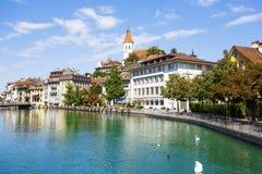 Stadtbild der Stadt von Thun Stockfotos