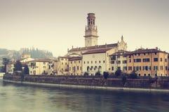 Stadtbild der Verona-alten Stadt (Veneto - Italien) Stockbilder