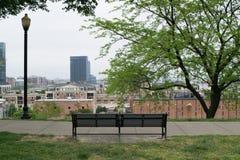 Stadtbild des Bundeshügels in Baltimore, Maryland während des Sommers stockfotografie