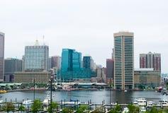 Stadtbild des Bundeshügels in Baltimore, Maryland während des Sommers lizenzfreie stockfotografie