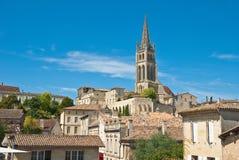 Stadtbild des Heiligen-Emilion, Frankreich. Lizenzfreie Stockfotos