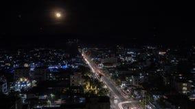 Stadtbild des Stadtzentrums auf Myanmar stockfotos