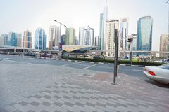 Stadtbild in Dubai, U A e lizenzfreie stockfotografie