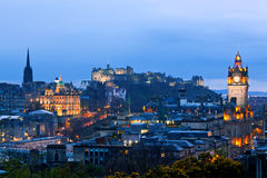 Stadtbild Edinburgh-Schottland stockfotos