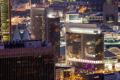 Stadtbild Frankfurts am Main Deutschland nachts Stockbild