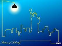 Stadtbild-Freiheitsstatue USA Lizenzfreie Stockbilder