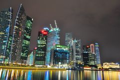 Stadtbild gesehen in Perspektive Lizenzfreies Stockfoto