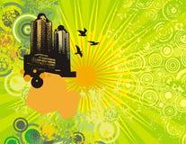 Stadtbild grunge Hintergrund Lizenzfreies Stockfoto