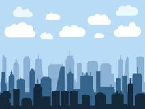 Stadtbild-Illustration lizenzfreie stockbilder