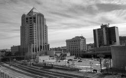 Stadtbild im Stadtzentrum gelegener Roanoke-Stadt, Virginia stockfotos