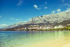 Stadtbild Makarska Kroatien Stockfotos