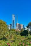 Stadtbild Melbournes Southbank mit National Gallery von Victoria Stockfotografie