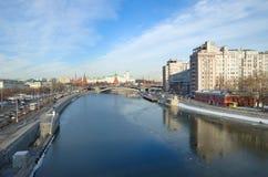 Stadtbild mit Moskau der Kreml, Russland Lizenzfreies Stockfoto