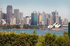 Stadtbild mit Sydney Opera House, Sydney, Australien lizenzfreies stockbild