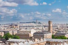 Stadtbild Mont Matre, Paris, Frankreich lizenzfreie stockbilder