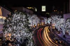 Stadtbild nachts Stockbild