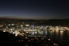 Stadtbild nachts Stockfotografie