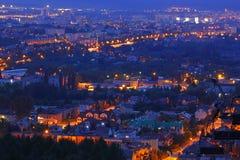 Stadtbild nachts Stockfoto
