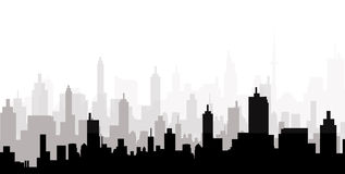 Stadtbild-Skyline - Vektor Lizenzfreie Stockfotos