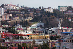 Stadtbild Sochi Russland Stockbild