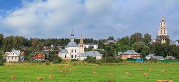 Stadtbild Suzdal Goldener Ring von Russland stockfoto