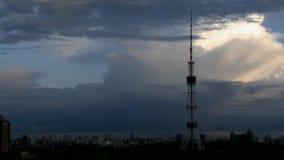 Stadtbild Timelapse von Tag zu Nacht stock footage