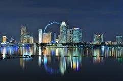Stadtbild um ein Riesenrad Stockbilder