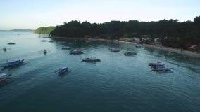Stadtbild und Landschaft EL Nido Schöne Stadt in Palawan, Philippinen stock footage