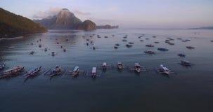 Stadtbild und Landschaft EL Nido Schöne Stadt in Palawan, Philippinen stock video footage