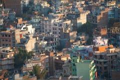 Stadtbild vieler Gebäude von Katmandu, Nepal Lizenzfreie Stockfotos