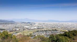 Stadtbild vom Affehügel Stockfotos